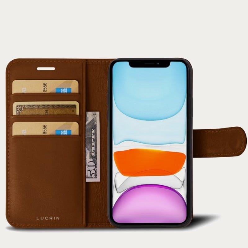 iPhone 11 Pro Maxウォレットケース - Tan - Smooth Leather