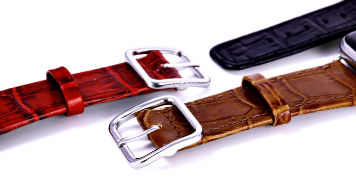 Apple Watch シリーズ 4 エレガントウォッチバンド  - (44 mm) - Camel - Crocodile style calfskin